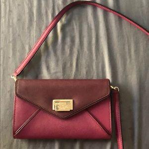 Kate Spade maroon letter bag